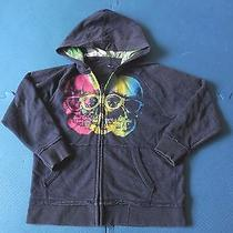Great Boys Gap Kids Bright Color Skulls With Glasses Zip Up Hoodie Size 6-7 Photo