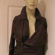 Great Chloe Brown Dress-Zippers Corseted Sides New- Photo