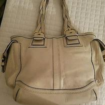 Great Coach  Beige/off White/cream/neutral Colored Leather Bag Photo