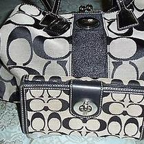 Great Coach Kiss Lock Satchel and Matching Wallet Photo