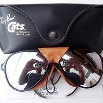 Great Condition Vintage b&l Ray Ban u.s.a. Cats Black Full Mirror Sunglasses  Photo