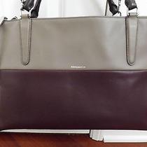 Great Deal Coach 598 Borough Retro Colorblock Oxblood & Grey Leather Bag 32502 Photo