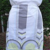 Great Elie Tahari Modern Geometric Print Cotton Skirt Sz 12  Photo