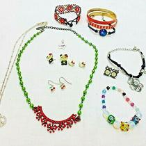 Great Girls Lot Signed Plunderfossilcrew Cuts Sanrio Necklaces Bracelets Ear Photo