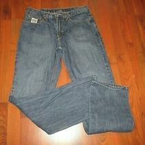 Great Men's Cinch White Label Denim Blue Jeans Size 34 X 36 Photo