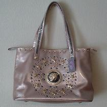 Great Sharif Large Genuine Patent Leather  Panther Tote Bag Purse Blush Nwt Photo