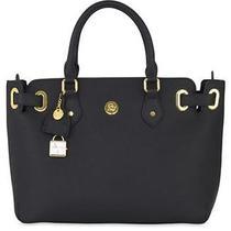 Great Value - Christie Leather Satchel - Black - Joy Mangano Purse Tote Bag Photo