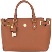 Great Value - Christie Leather Satchel - Cognac - Joy Mangano Purse Tote Bag Photo