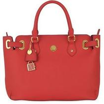 Great Value - Christie Leather Satchel - Red - Joy Mangano Purse Tote Bag Photo
