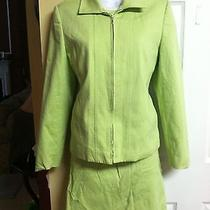 Green 3pc Skirt Suit by Talbots Sz 6 Photo