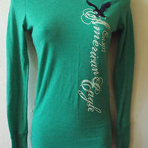 Green American Eagle Shirt With Eagle Logo Size Xs Vintage Style Photo