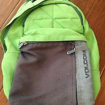Green and Blue Volcom Backpack Photo