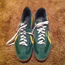 Green and Gold Sneakers Photo
