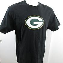 Green Bay Packers Reebok Men's 100% Cotton Graphic Tee T-Shirt Black 2xl Photo