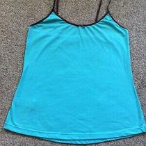 Green & Brown Trimmed Cami Strappy Vest Top Uk Size 14-15 Large by Avon Photo