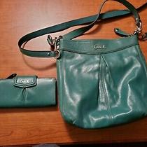 Green Coach Purse and Wallet F20114 Photo