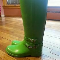 Green Coach Rain Boots Photo