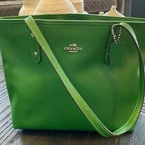 Green Coach Tote- Large Photo