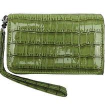 Green Croc Reptile Embossed Iphone 5 Iphone 5c Iphone 5s Wristlet Wallet  Photo