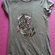 Green Ed Hardy Fish T Shirt Photo