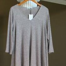 Green Envelope Los Angeles Blush Gray Heather v-Neck Swing Top Shirt Sz 3x New Photo