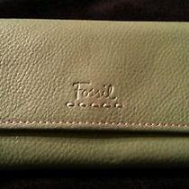 Green Fossil Leather Wallet  Photo