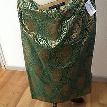 Green Gold Damask Skirt Photo