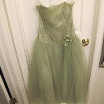 Green Jessica Mcclintock Strapless Homecoming / Prom Dress Photo