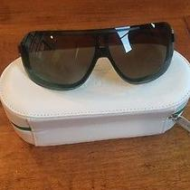 Green Lacoste Sunglasses With Case  Photo
