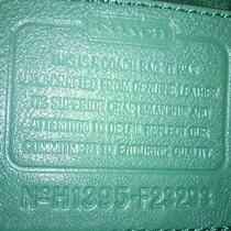 Green Leather Coach Bag Photo