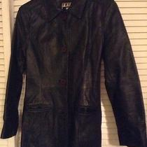 Green Leather Jacket by Frye Photo