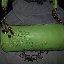 Green Leather Juicy Couture Purse 100% Authentic Hobo Shoulder Bag Photo