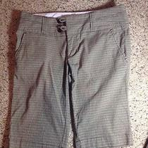 Green Plaid Walking Shorts by Roxy - Size 9. Ked Photo
