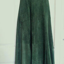 Green Suede Skirt Photo