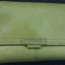 Green Tri-Fold Fossil Wallet Photo