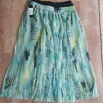 Green Tropical Floral Print Maxi/midi Skirt by Diesel Size M New With Tags Photo