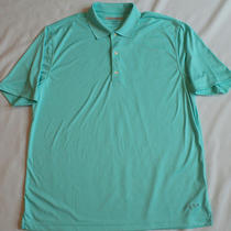 Greg Norman Play Dry Xl Mens Golf Shirt Aqua Short Sleeve Shark Photo