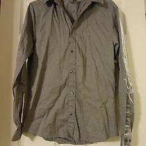 Grey h&m Button Down Shirt Euc Medium Free Shipping Photo