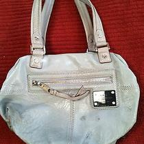 Grey Leather Lamb Handbag Photo