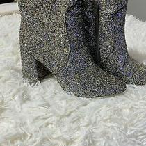 Grey Sparkly Boots Size 7 Worn Twice Purchased From Express Store Photo