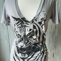 Grey Tiger Print T-Shirt by the Beautiful Ones at Urban Outfitters Size S Used Photo