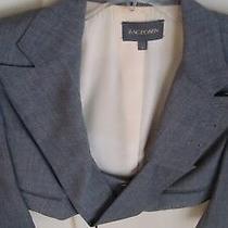 Grey Zac Posen Croppez Blazer Jacket Sz 8 Photo