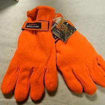 Griffin Blaze Orange Thermal Insulated Gloves New Srp 9.99 Hunters Winter Wear Photo