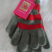 Griffin Ladies Chenille Glove One Size Fits All Red/gray New  Photo