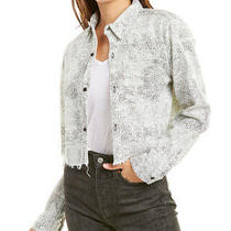 Grlfrnd Christy Cropped Denim Shirt Women's White S Photo
