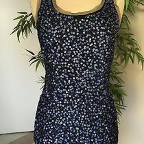 Gryphon Black/ Navy Sequined Mesh Top. Size Xs Photo