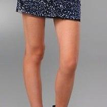 Gryphon Blue Metallic Sequin Mini Skirt. Embellished  Photo