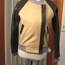 Gryphon Leather/wool Bomber Jacket Sz Xs Photo