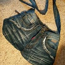 Gs 115 Guess Jeans Denim Tote Bag Purse (Never Used) Photo