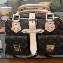 Guaranteed Authentic Louis Vuitton Manhattan Gm Handbag Photo